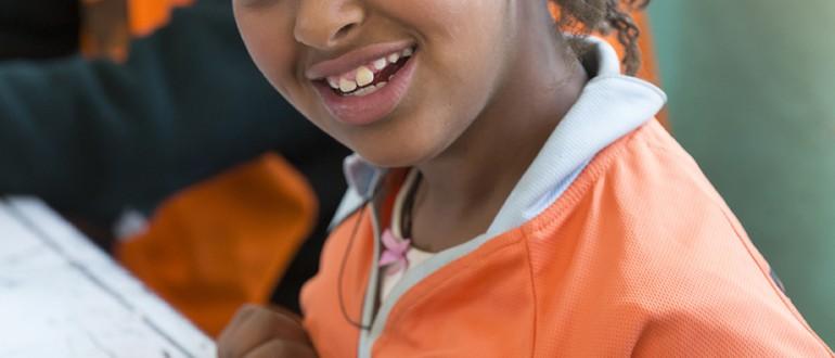 Meisje met een beperking Aflatoun Ethiopië