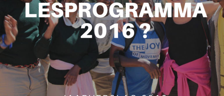 jaarverslag 2016 StartUp4kids Aflatoun